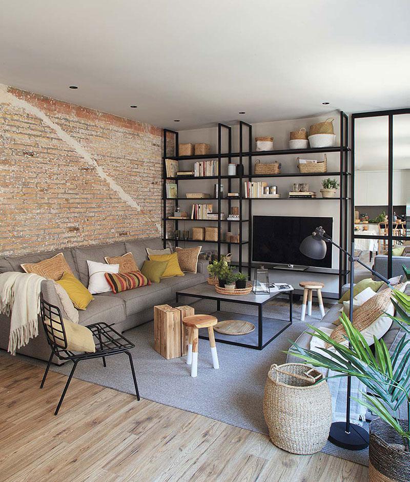Приятная квартира с элементами индустриального стиля в Барселоне   barcelona apartment industrial style pufikhomes 1