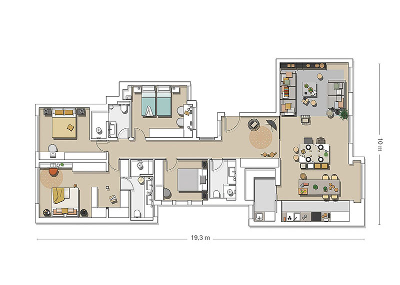 Приятная квартира с элементами индустриального стиля в Барселоне   barcelona apartment industrial style pufikhomes 16