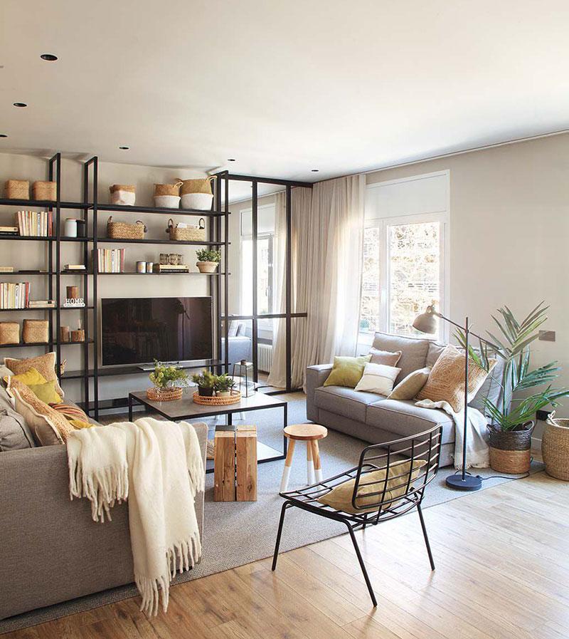 Приятная квартира с элементами индустриального стиля в Барселоне   barcelona apartment industrial style pufikhomes 2