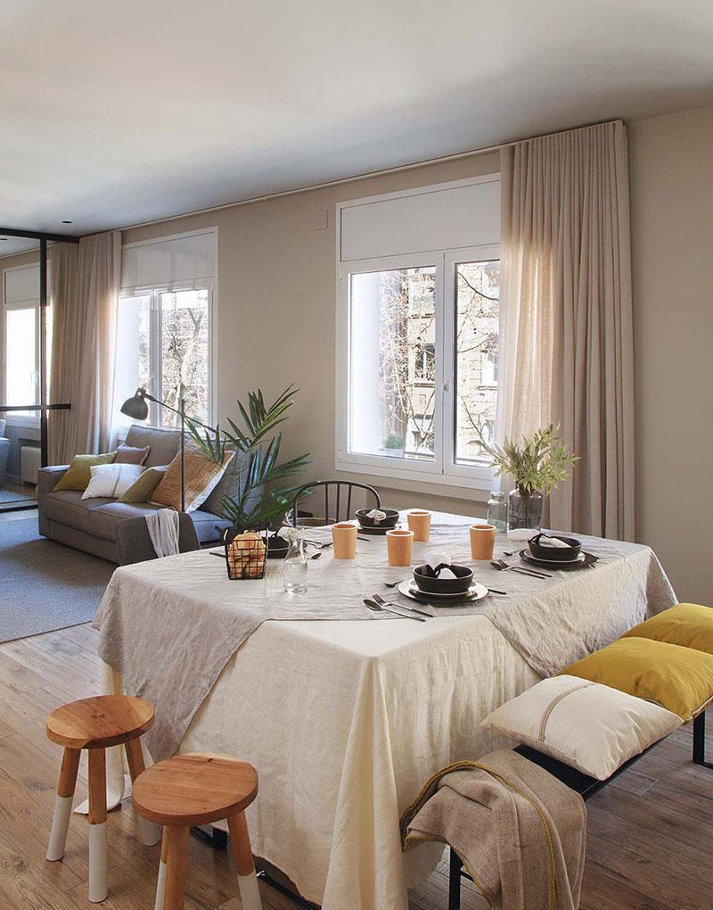 Приятная квартира с элементами индустриального стиля в Барселоне   barcelona apartment industrial style pufikhomes 6