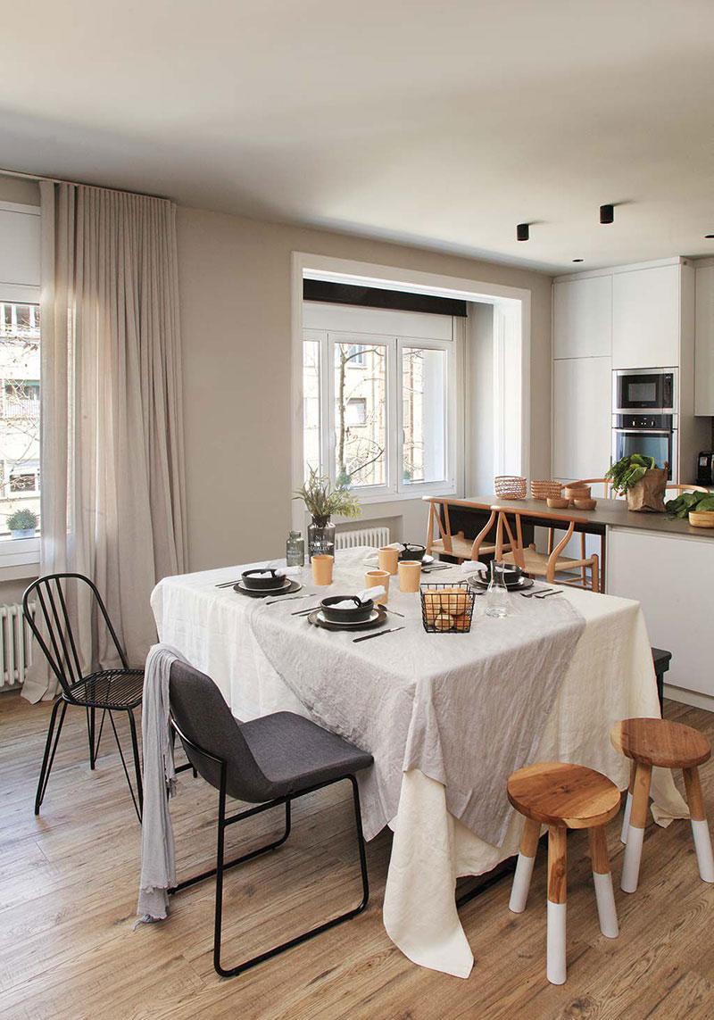 Приятная квартира с элементами индустриального стиля в Барселоне   barcelona apartment industrial style pufikhomes 7