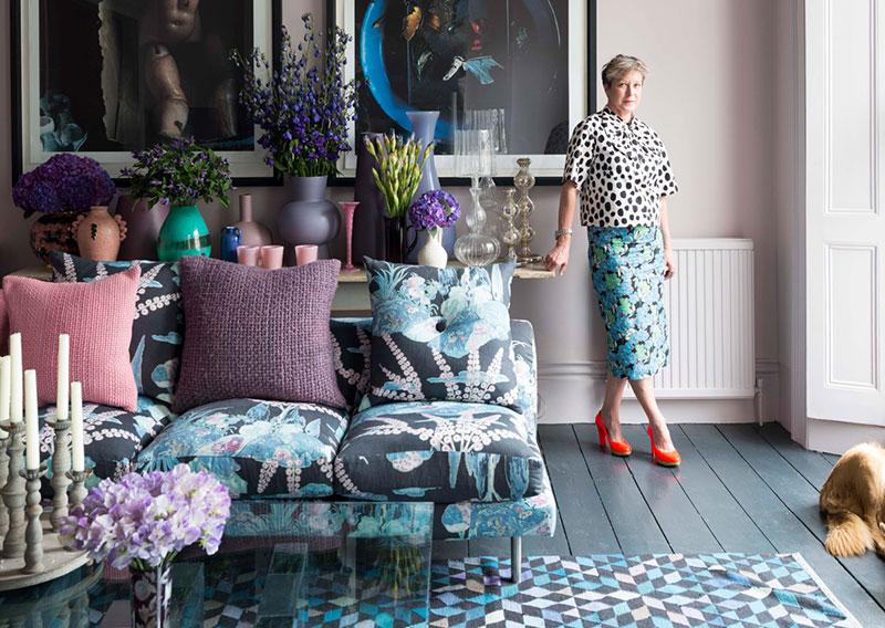 Цветочные мотивы и смелая гамма: интерьер флориста в Лондоне
