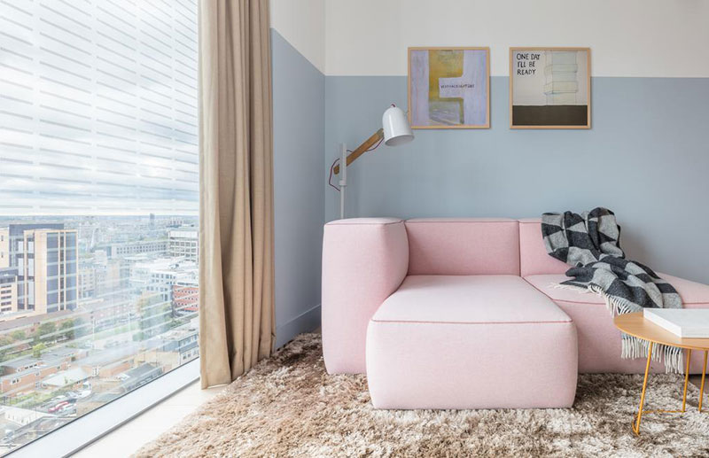 Pale pink minimalism: Leman Lock boutique hotel in London