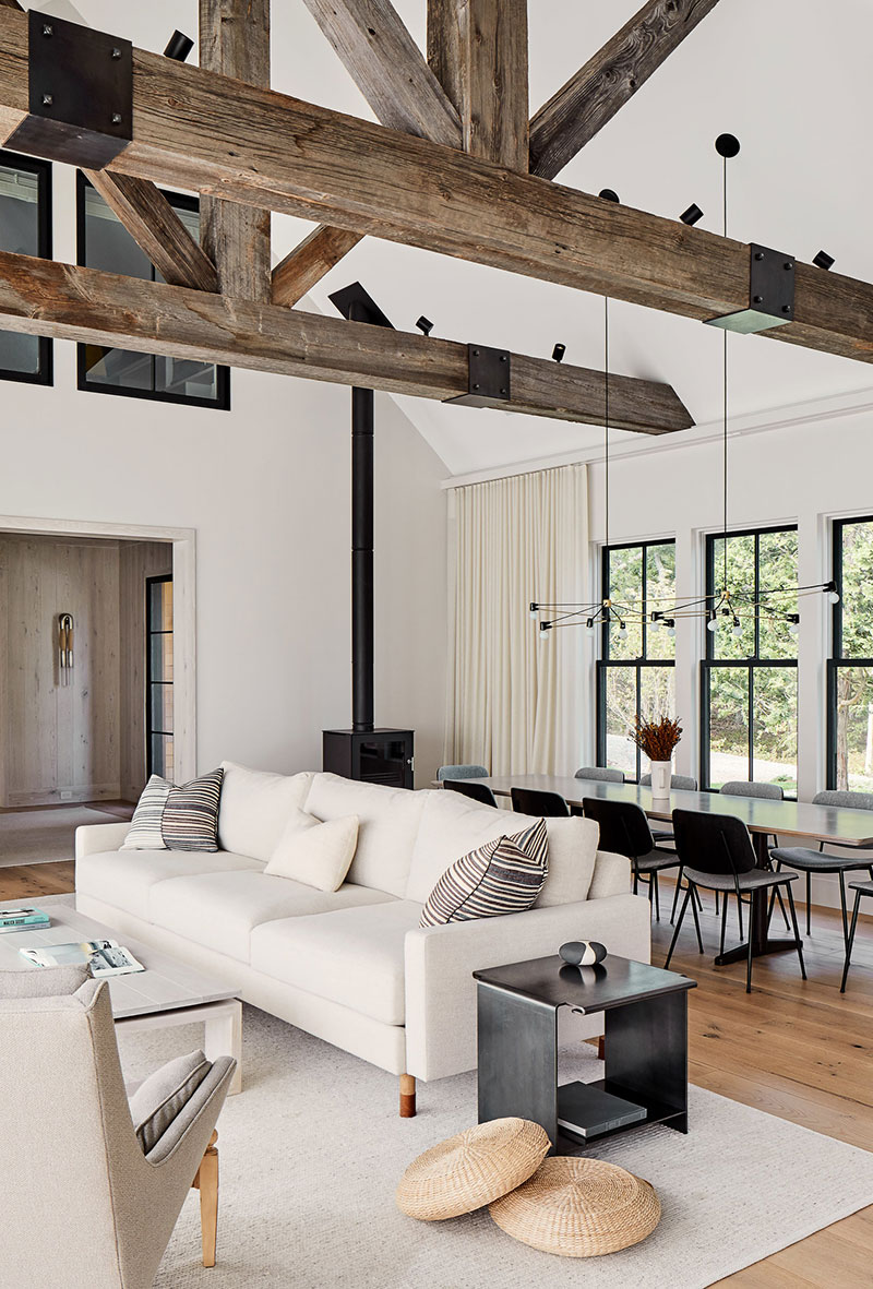 The interiors combine the beauty and coziness of natural wooden surfaces with the simplicity and elegance of modern living spaces dream home