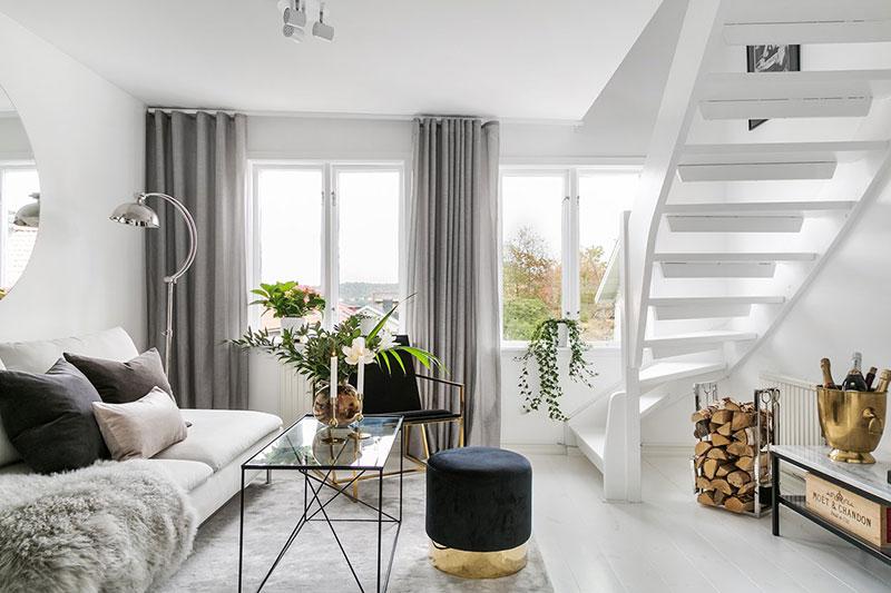 Небольшая двухэтажная квартира на окраине Стокгольма
