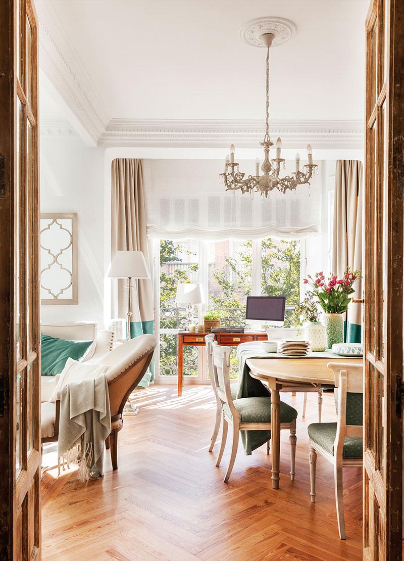Весенняя свежесть вместо скучных тонов: преображение квартиры в Мадриде   spring touches in madrid apartment pufikhomes 1