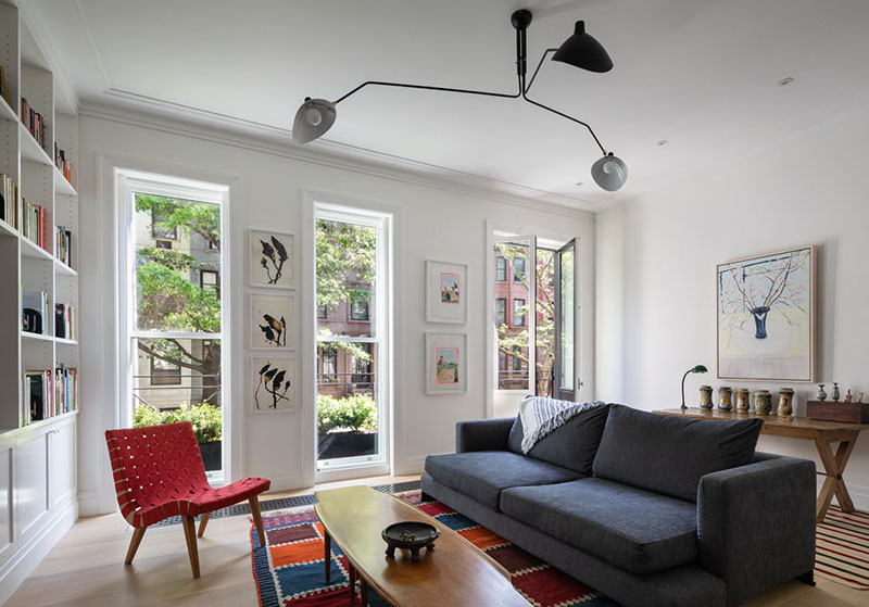 Stylish minimalism in former synagogue building in New York
