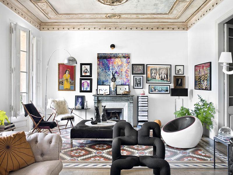Интерьер не для всех: квартира коллекционера в Барселоне