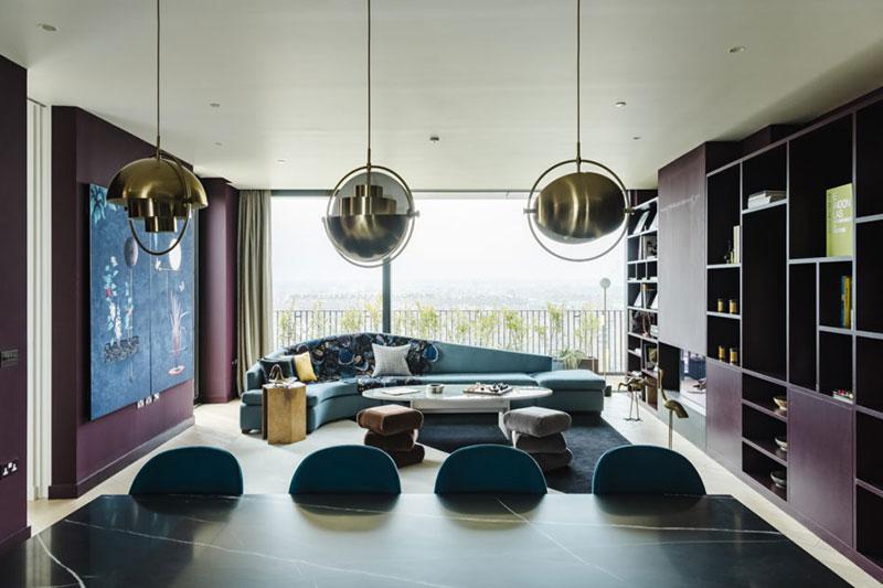 Необычная цветовая гамма для современных апартаментов в Лондоне