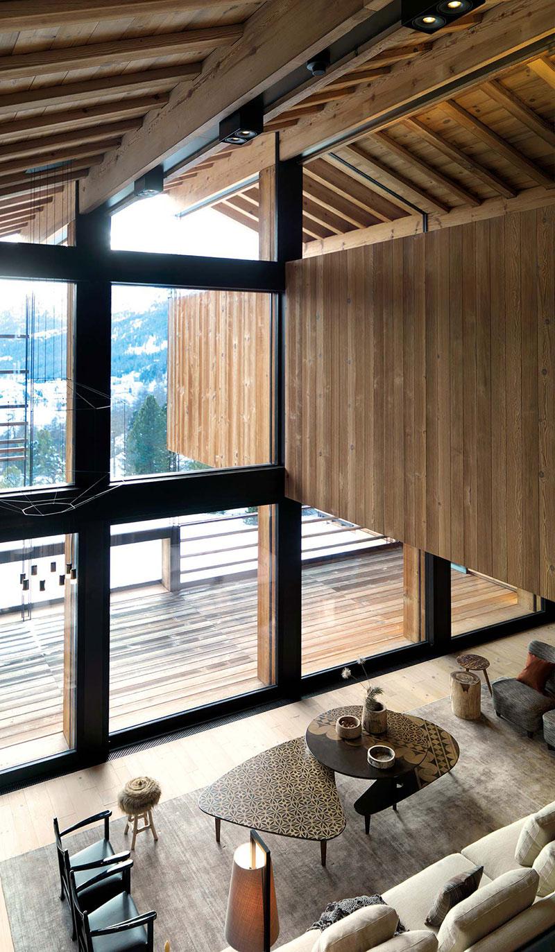 деревянный дом интерьер внутри фото