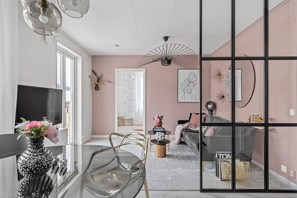 Small finine apartment in Sweden (63 sqm)