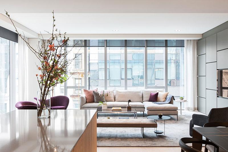 Стильный минимализм в нью-йоркском небоскрёбе