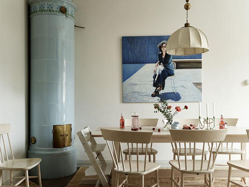 """Цветочные обои и естественные оттенки: уютный """"натуральный"""" интерьер в Стокгольме"""