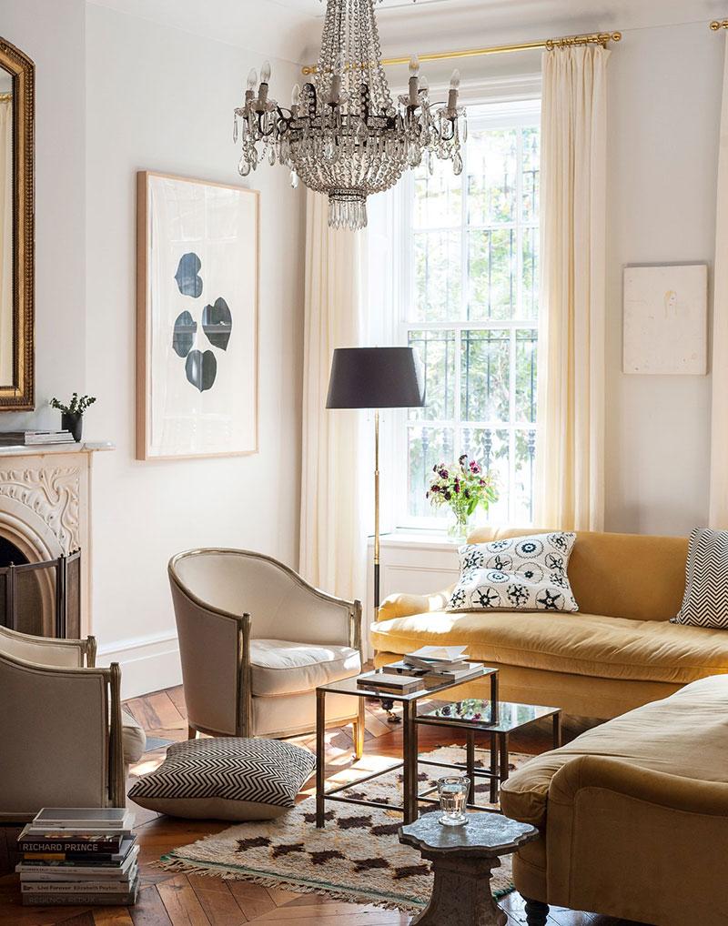 Расслабленный, но элегантный интерьер дома в Нью-Йорке