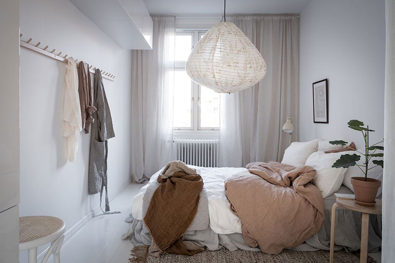 интерьер спальни фото в теплых тонах