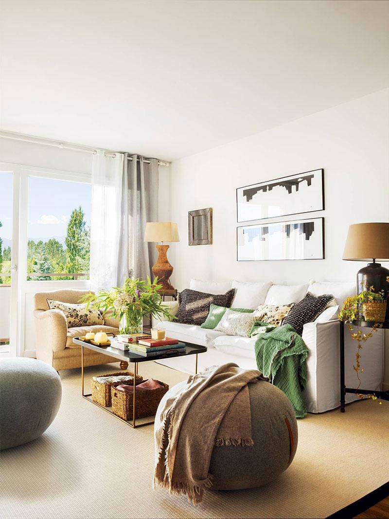 Тяга к природе: желтые и зеленые акценты для квартиры в Испании (50 кв. м)