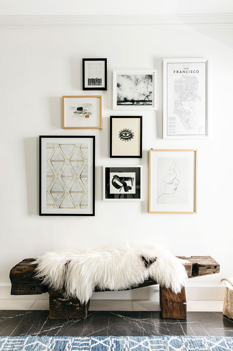 интерьер кухни черно белой фото