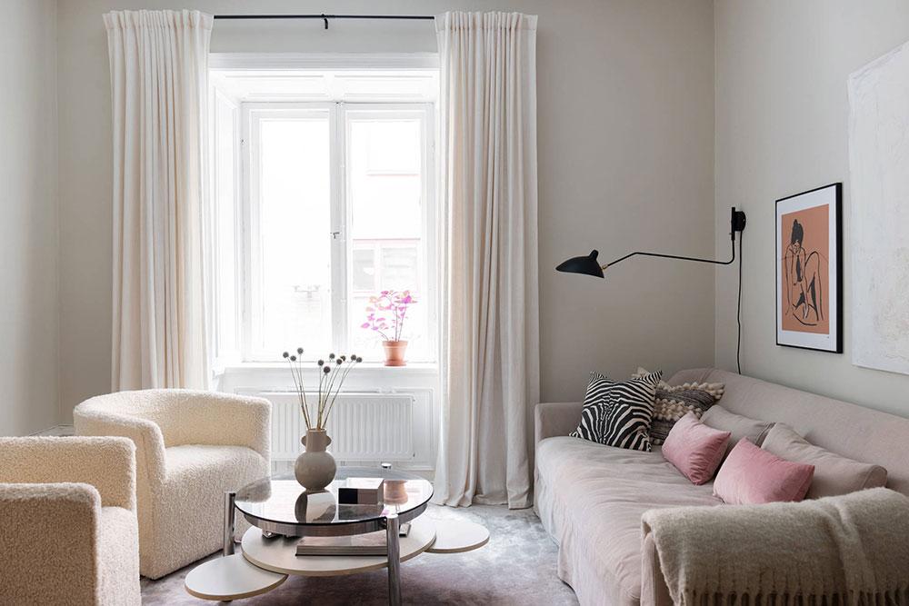 скандинавский дизайн в маленькой квартире