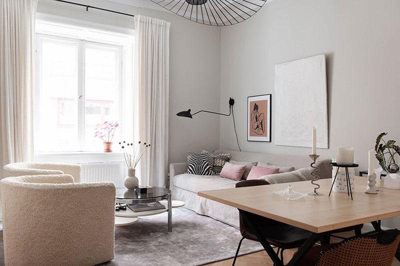 скандинавский дизайн маленькой квартиры