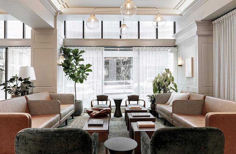 интерьер современных гостиниц