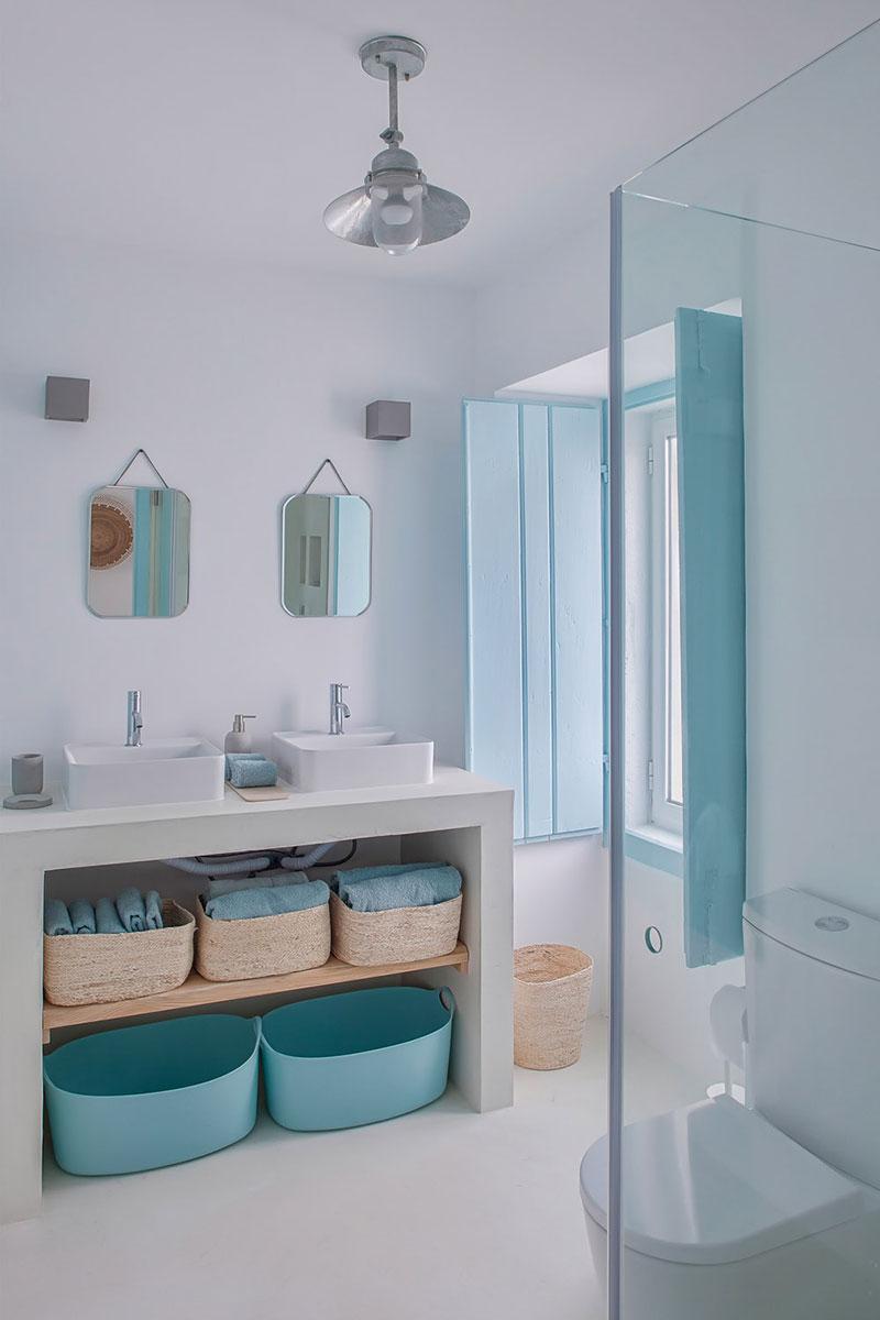 интерьер гостиной в голубом цвете