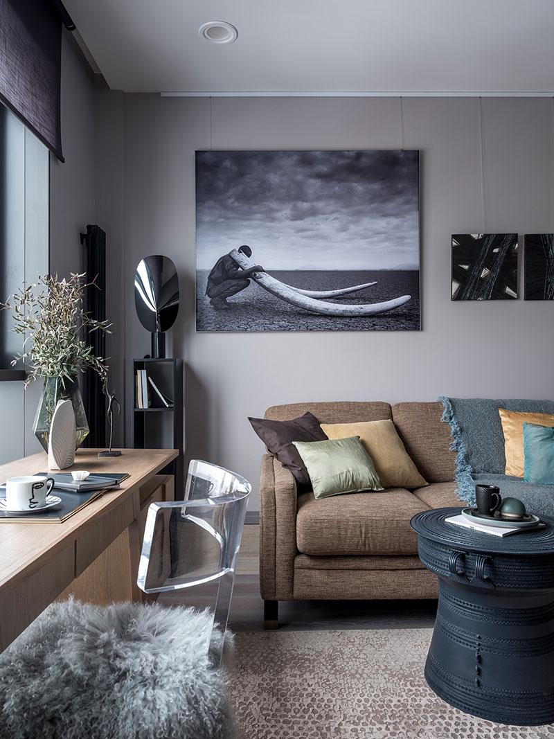 интерьеры квартир в темных тонах фото
