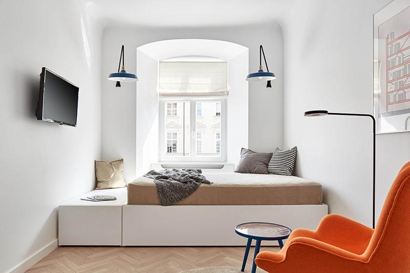 интерьер смарт квартиры с кухней гостиной
