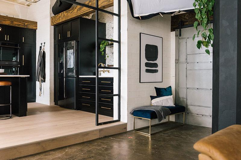 бетон в интерьере квартиры