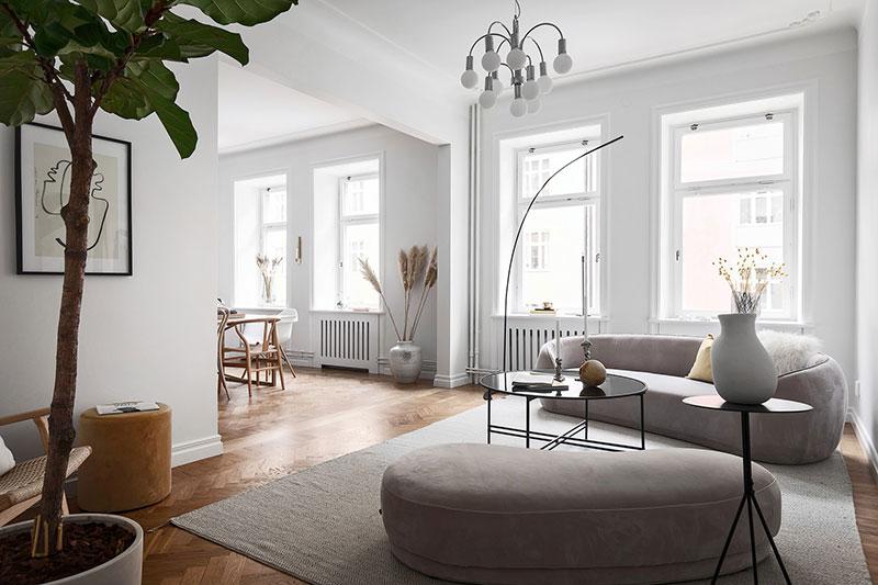 современный интерьер квартиры в скандинавском стиле