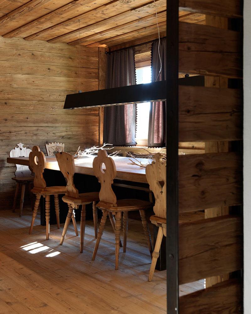 дизайн интерьера загородного дома в стиле шале фото