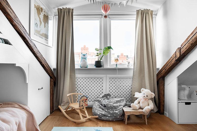 интерьеры для мансардных квартир