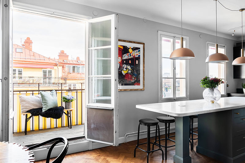 фото интерьеров мансардных квартир