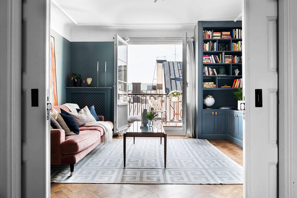 интерьер квартиры мансардного типа