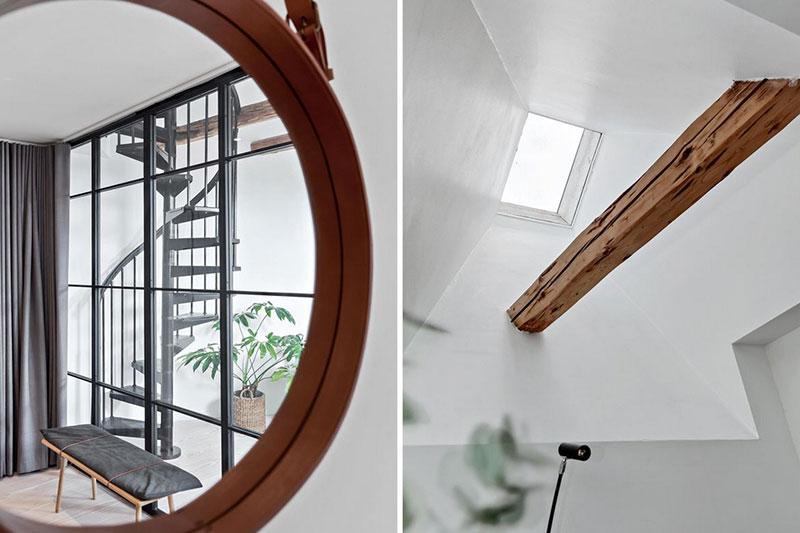 балки в интерьере в стиле лофт