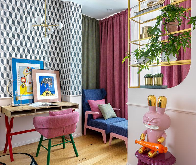 красочный интерьер квартиры