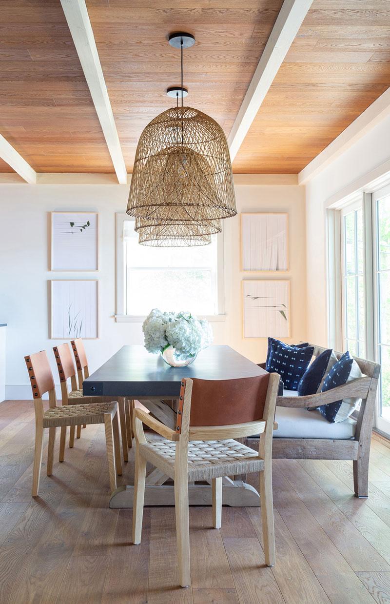 интерьер американского деревянного дома