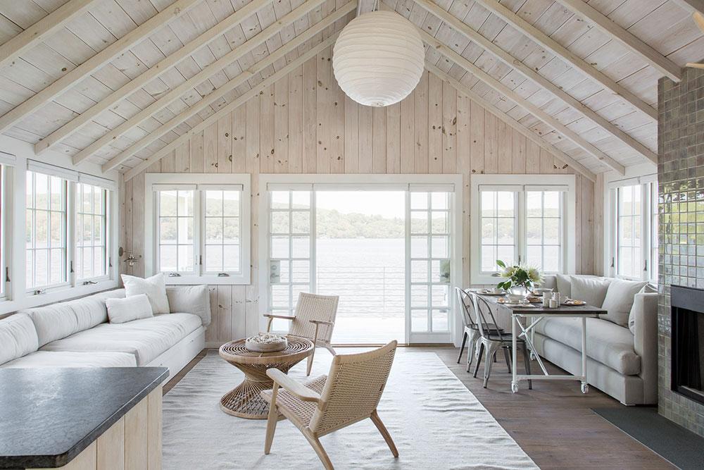 интерьер деревянных американских домов