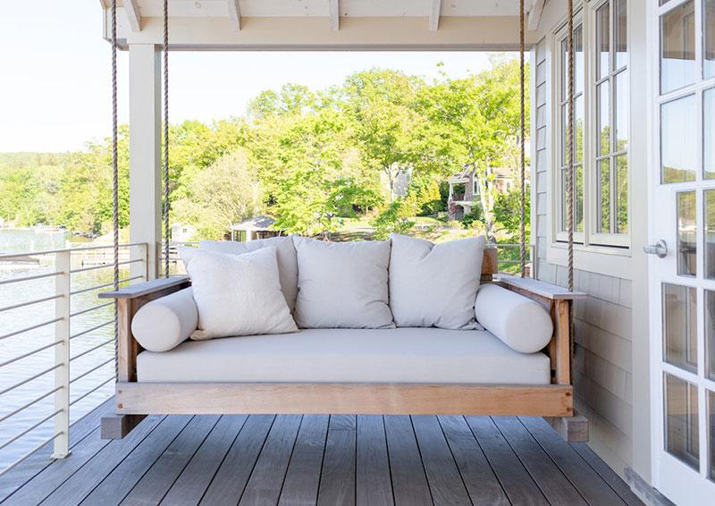 американский стиль в интерьере деревянного дома фото