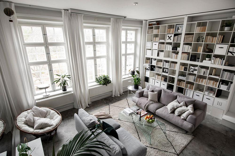 интерьер библиотеки фото в квартире