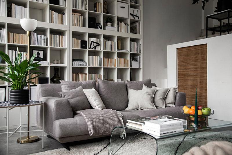 интерьер библиотека в квартире