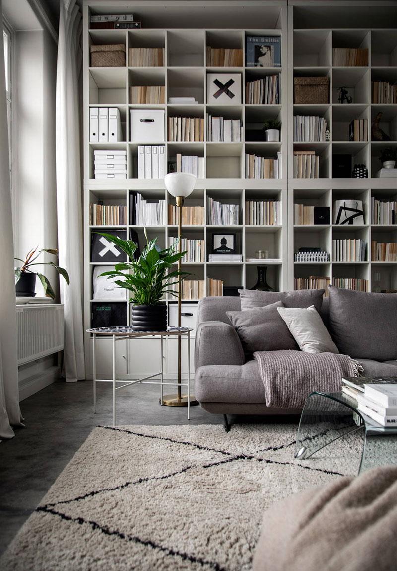 библиотека интерьер в квартире