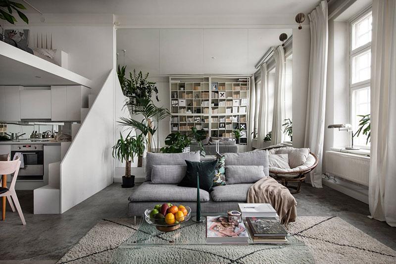 интерьеры квартир с библиотекой