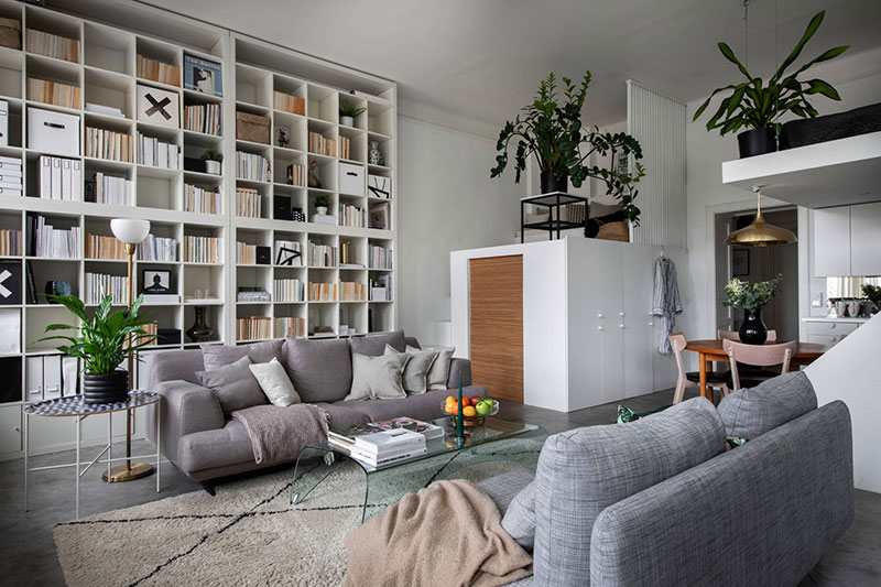 интерьер библиотеки в квартире фото
