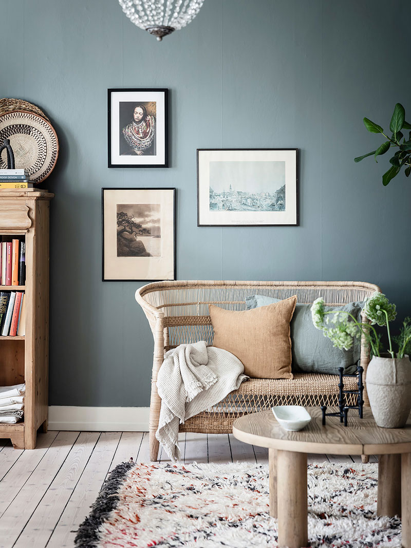 голубые стены в квартире