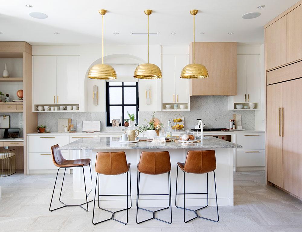 дизайн кухни в светлых тонах фото в современном стиле