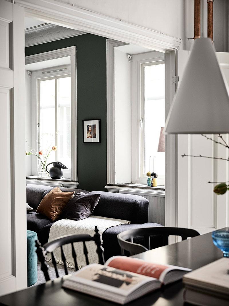 интерьер квартир зеленый цвет