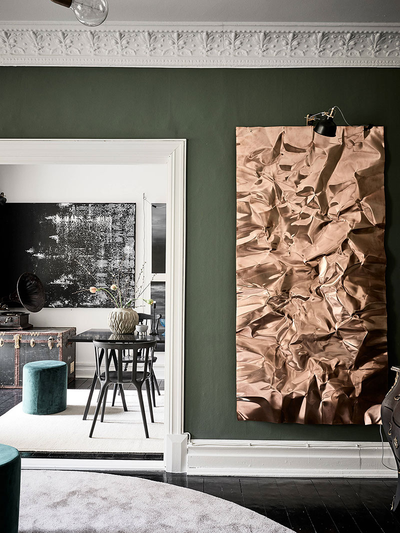 сочетание зеленого цвета в интерьере квартиры