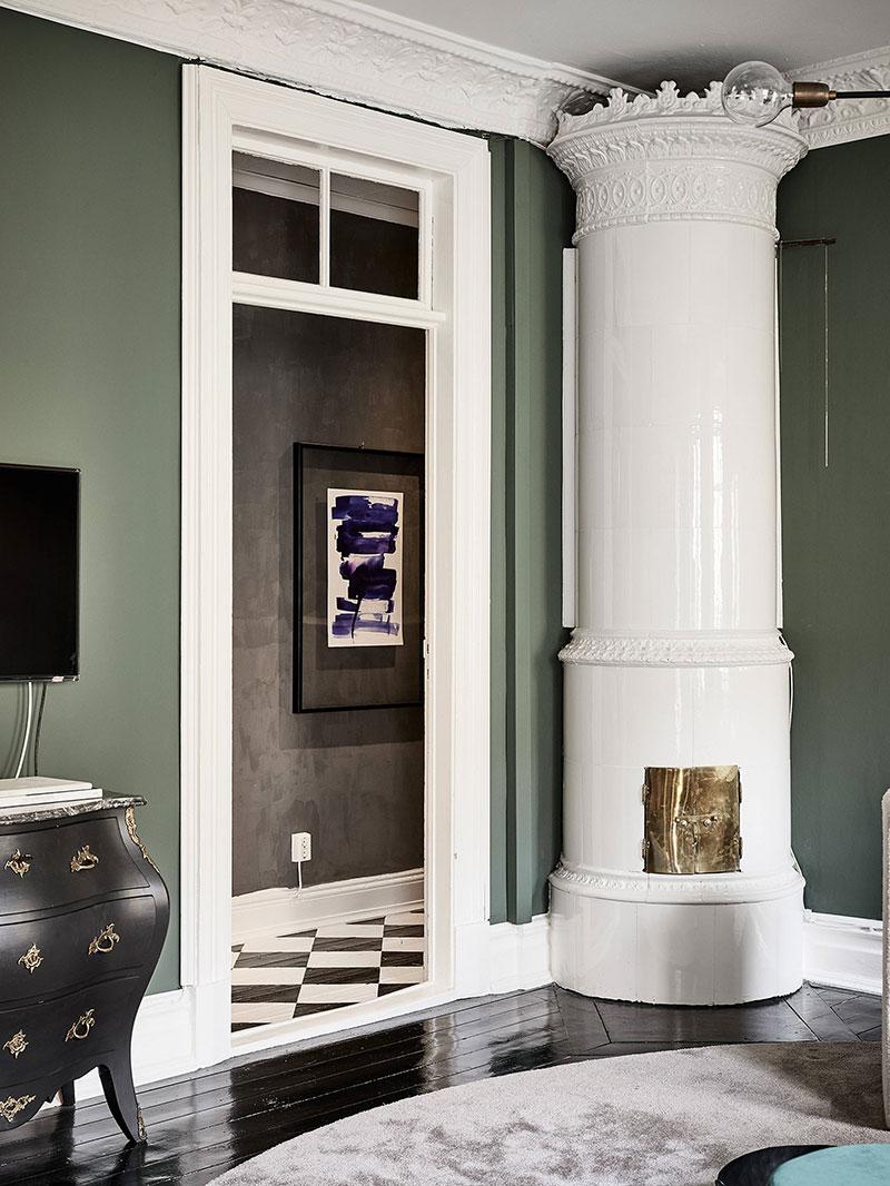 интерьеры квартир с зеленым цветом