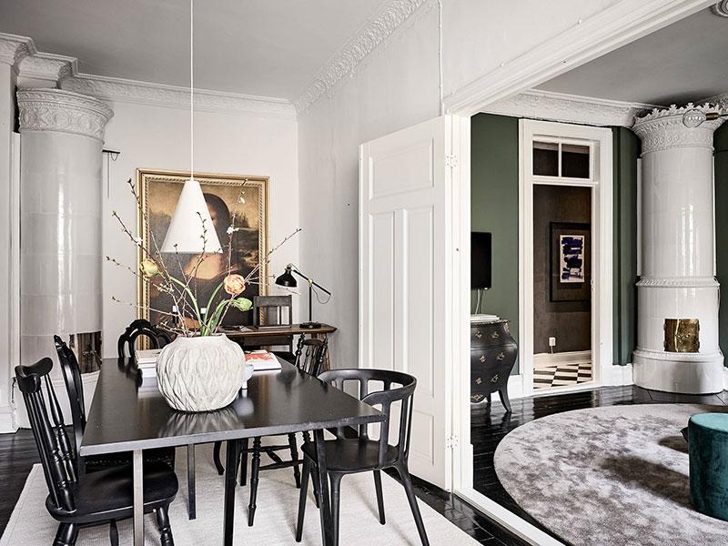 зеленый цвет в интерьере квартиры фото