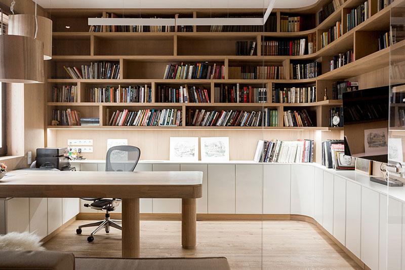 современные библиотеки интерьер в квартире